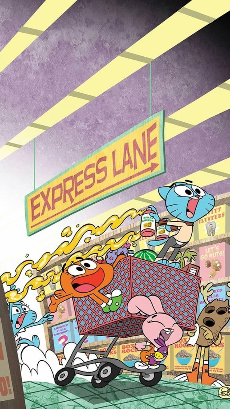 Birbirinden Harika Gumball Telefon Duvar Kağıtları!