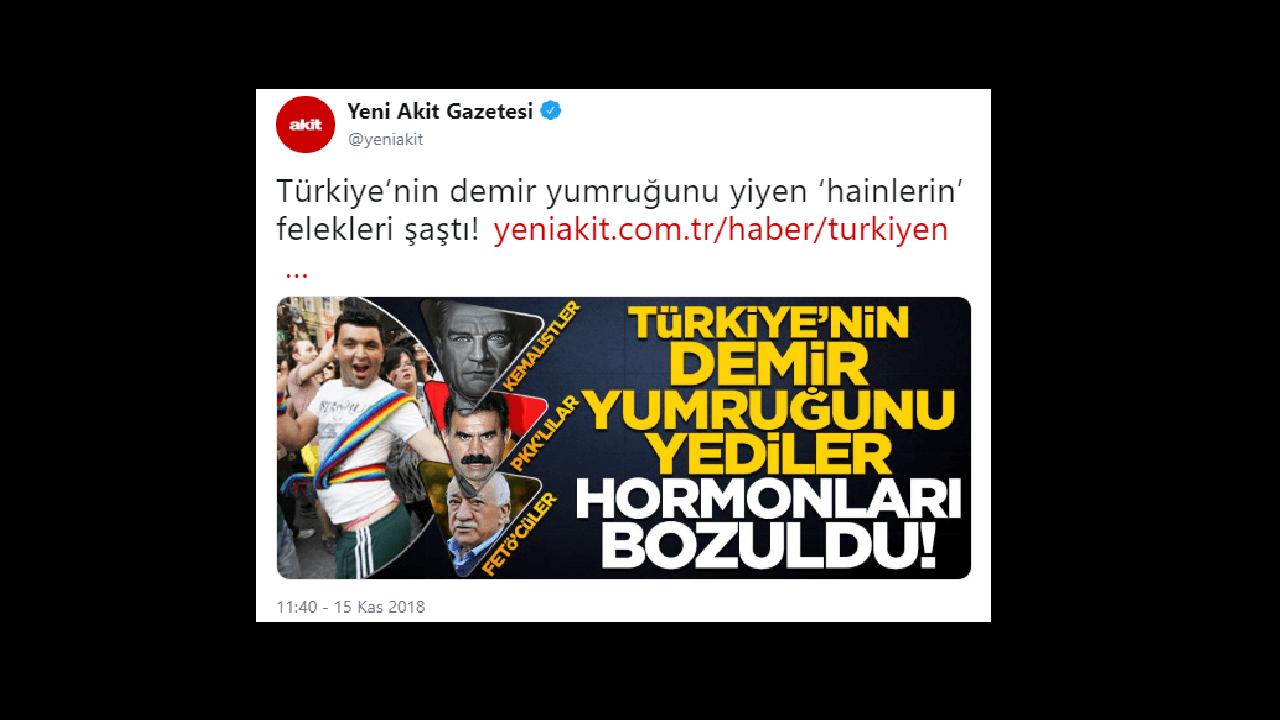 Akit Gazatesi'nden Skandal Atatürk Provakandası!
