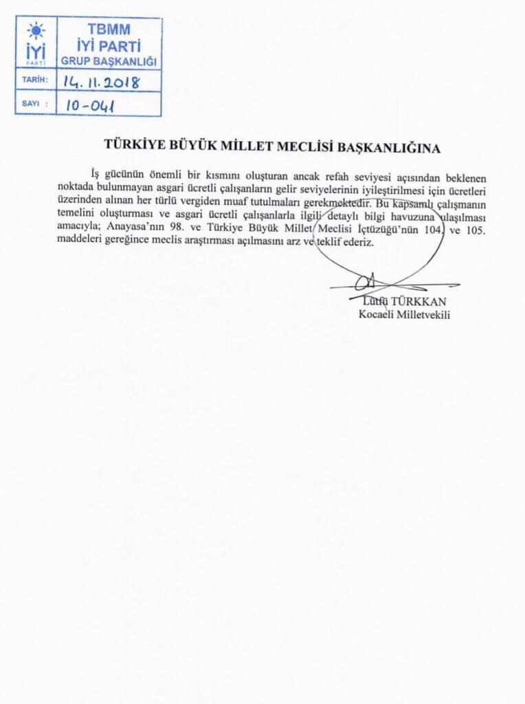 """'Asgari Ücretliler Vergiden Muaf Tutulsun' Önergesine Vekiller """"HAYIR"""" Dedi."""