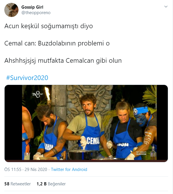 Survivor Cemal Can En Komik Tweetler