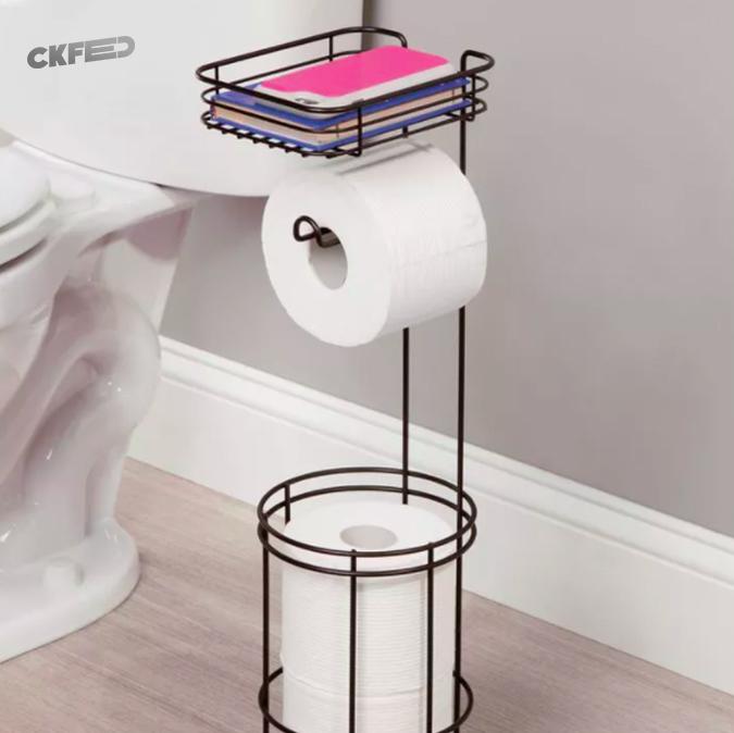 Tuvalette ilham perisine yakalananlar için çok amaçlı raf.