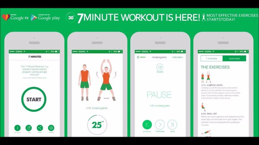 7 Minute Workout - Evde Egzersiz: En İyi 5 Egzersiz Uygulamaları