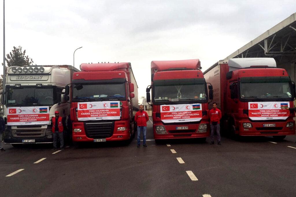 Azerbaycan'a 2. yardım konvoyu yola çıkıyor